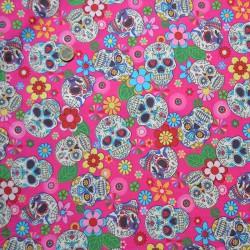 Calaveras mexicanas algodón