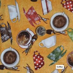 Tela coffee algodón