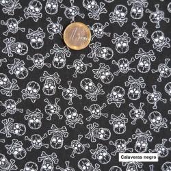 Calaveras negra algodón